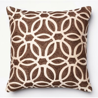 Throw Pillow Color: Brown/Beige