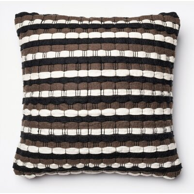 Tulley Pillow Cover Color: Brown/Black