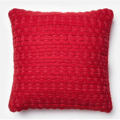 Tulley Pillow Cover Color: Red