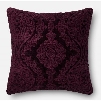 Lebow Throw Pillow Color: Eggplant