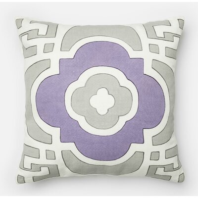 100% Cotton Throw Pillow Color: Gray/Plum