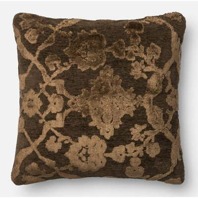 Pillow Cover Size: 18 H x 18 W x 0.25 D, Color: Dark Taupe