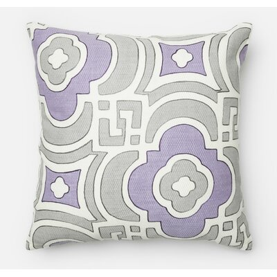 100% Cotton Throw Pillow Color: Gray/Plum