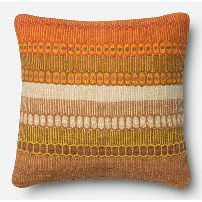 Pillow Cover Size: 18 H x 18 W x 0.25 D, Color: Orange
