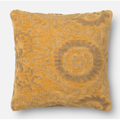 Throw Pillow Color: Buttah, Size: 22 H x 22 W x 6 D