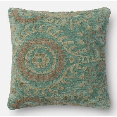 Throw Pillow Size: 22 H x 22 W x 6 D, Color: Blue Grass