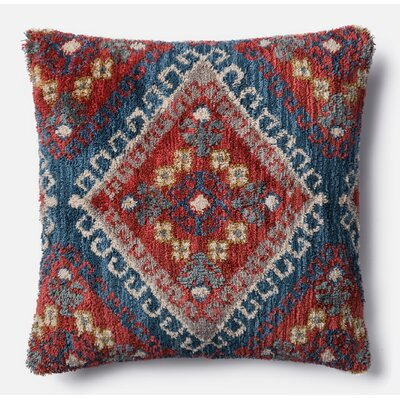 Throw Pillow Color: Rust/Blue