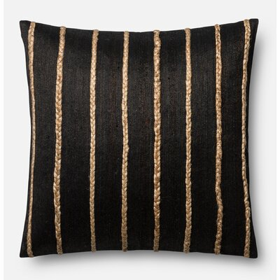 Hintz Pillow Cover Color: Black