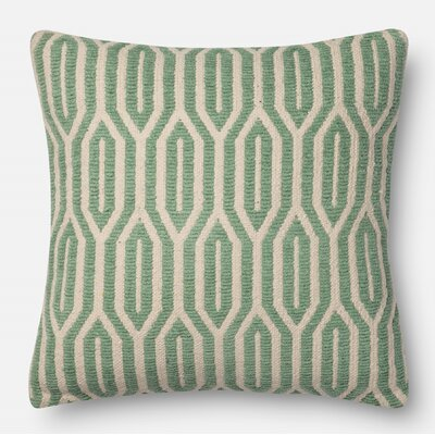 Pillow Cover Size: 22 H x 22 W x 0.25 D, Color: Jade