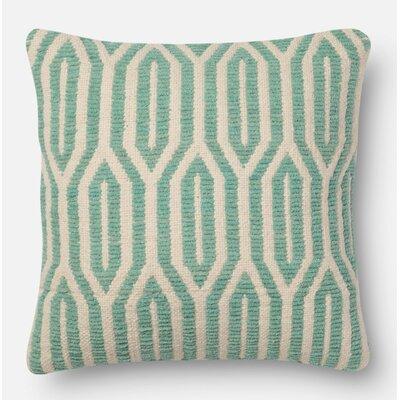 Pillow Cover Size: 18 H x 18 W x 0.25 D, Color: Aqua