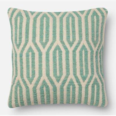 Throw Pillow Size: 18 H x 18 W x 6 D, Color: Aqua