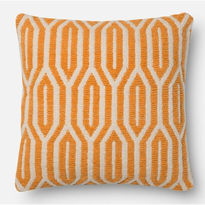 Throw Pillow Size: 18 H x 18 W x 6 D, Color: Orange