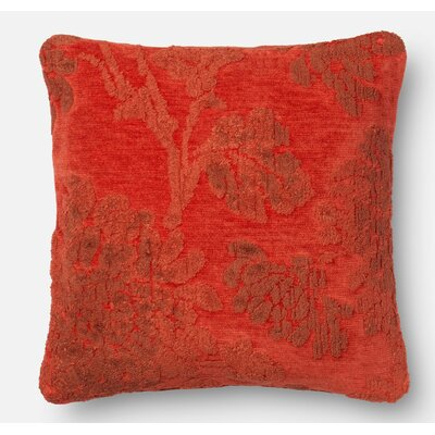 Throw Pillow Size: 22 H x 22 W x 6 D, Color: Coral