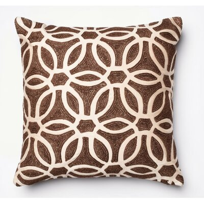 Kinsey Satin Pillow Cover Color: Brown/Beige