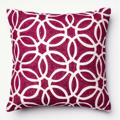 Pillow Cover Color: Magenta/White