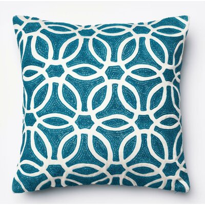 Pillow Cover Color: Blue/White