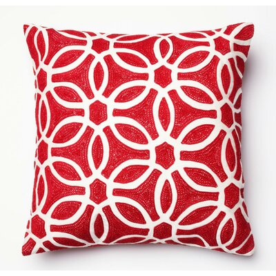 Pillow Cover Color: Red/White