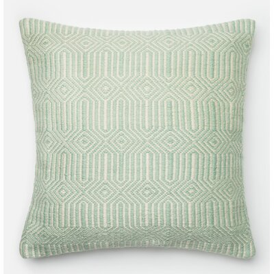 Throw Pillow Color: Aqua/Ivory