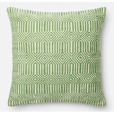 Throw Pillow Color: Green/Ivory