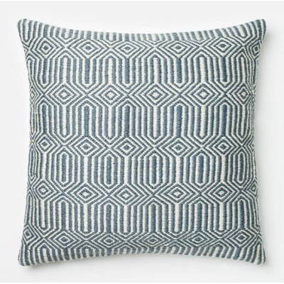 Throw Pillow Color: Blue/Ivory