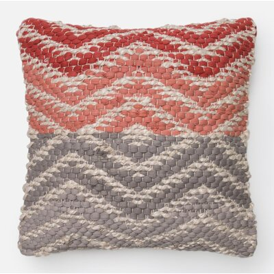 Throw Pillow Color: Coral/Gray