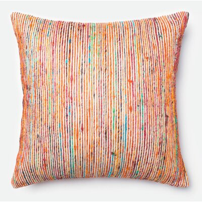 Throw Pillow Color: Rust/Multi