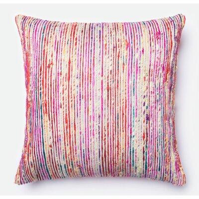 Throw Pillow Color: Red/Multi