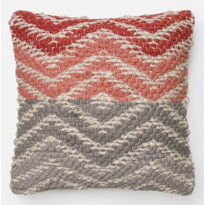 Pillow Cover Color: Coral/Gray