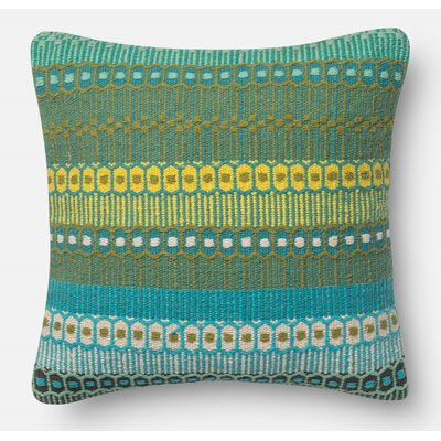 Yamashita Cotton Throw Pillow Size: 22 H x 22 W x 6 D, Color: Ombre Dhaba