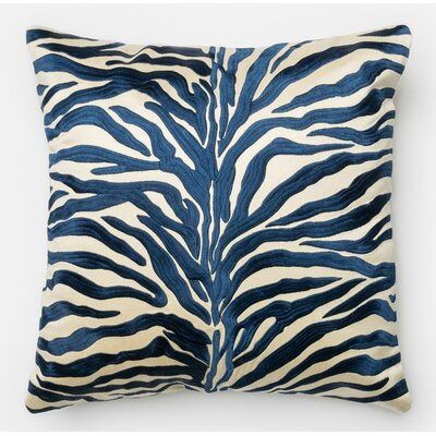 100% Cotton Pillow Cover Color: Blue