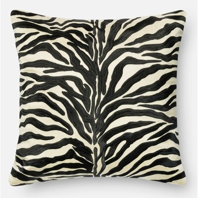 100% Cotton Pillow Cover Color: Black
