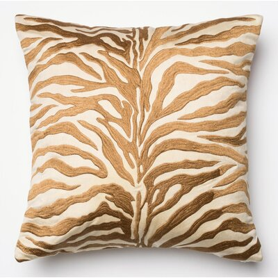 100% Cotton Pillow Cover Color: Bronze