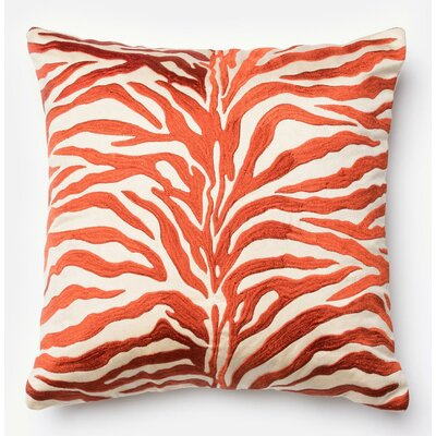 100% Cotton Pillow Cover Color: Rust/Beige