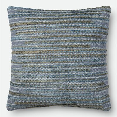 Miso Throw Pillow Size: 18 H x 18 W x 6 D, Color: Steel