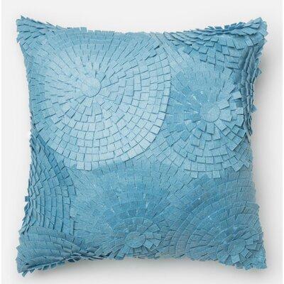 100% Cotton Pillow Cover Color: Light Blue