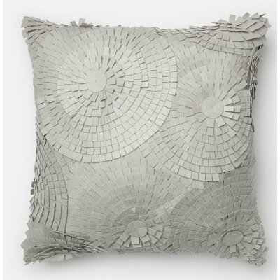 100% Cotton Pillow Cover Color: Gray