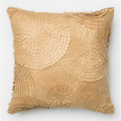 100% Cotton Pillow Cover Color: Sand