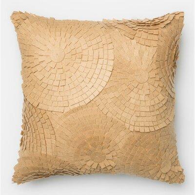 100% Cotton Pillow Cover Color: Sand