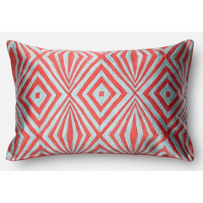 100% Cotton Pillow Cover Color: Coral/Teal