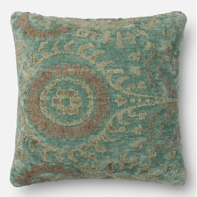 Pillow Cover Size: 18 H x 18 W x 0.25 D, Color: Blue Grass