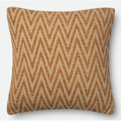 Damion Throw Pillow Size: 18 H x 18 W x 6 D, Color: Persimmon