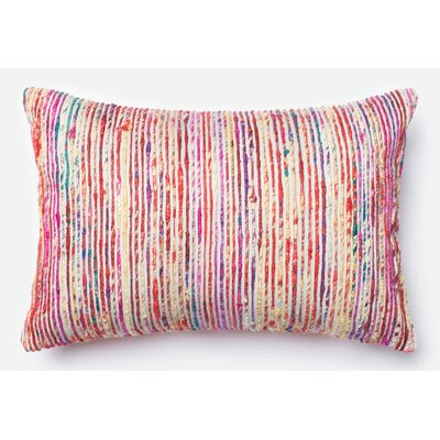 Tuttle Lumbar Pillow Color: Red/Multi