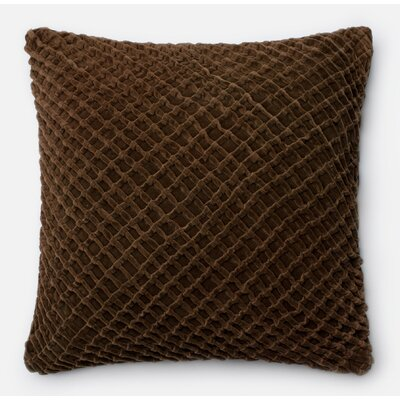 100% Cotton Pillow Cover Color: Brown