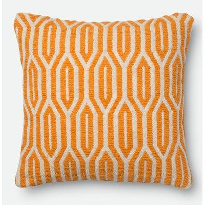 Throw Pillow Size: 18 H x 18 W x 6 D, Color: Orange