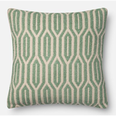 Cotton Throw Pillow Size: 22 H x 22 W x 6 D, Color: Jade