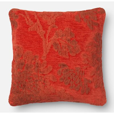 Pillow Cover Size: 22 H x 22 W x 0.25 D, Color: Coral