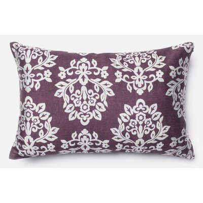 Pillow Cover Color: Plum/Silver