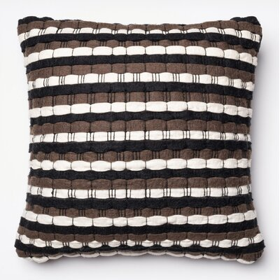 Tumlin Throw Pillow Color: Brown/Black