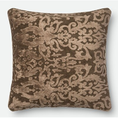 Throw Pillow Color: Coffee, Size: 22 H x 22 W x 6 D