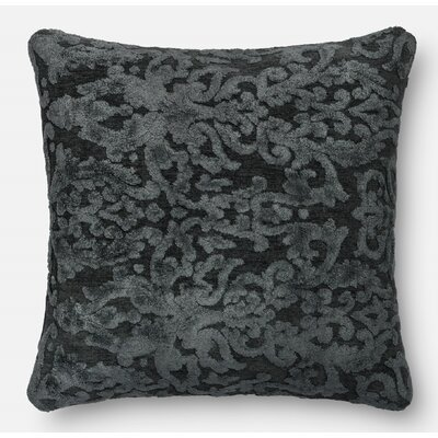 Throw Pillow Size: 18 H x 18 W x 6 D, Color: Metal